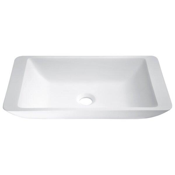 Kydia Plastic Rectangular Vessel Bathroom Sink by