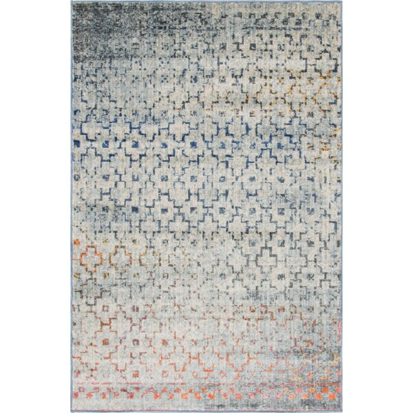 Montross Blue/Orange Area Rug by Williston Forge