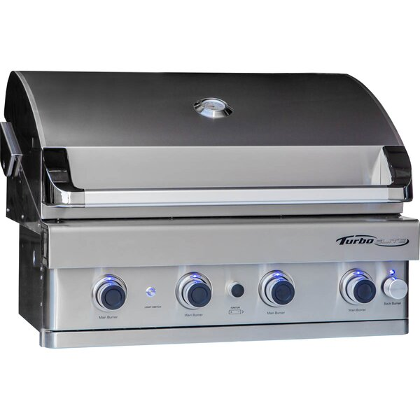 Turbo Elite 4-Burner Built-In Gas Grill by Barbeques Galore
