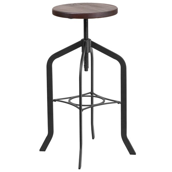 Chrissy Adjustable Height Swivel Bar Stool by Williston Forge