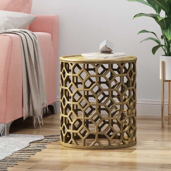 Morgan Modern Glam Aluminum Accent Table By Bungalow Rose
