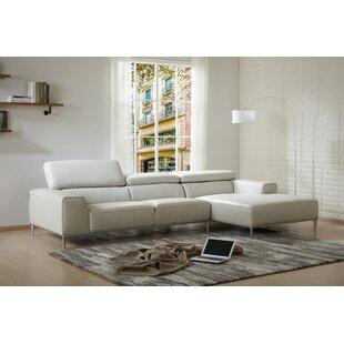 Yablonski Leather Sofa Chaise Orren Ellis Bargain Furniture For