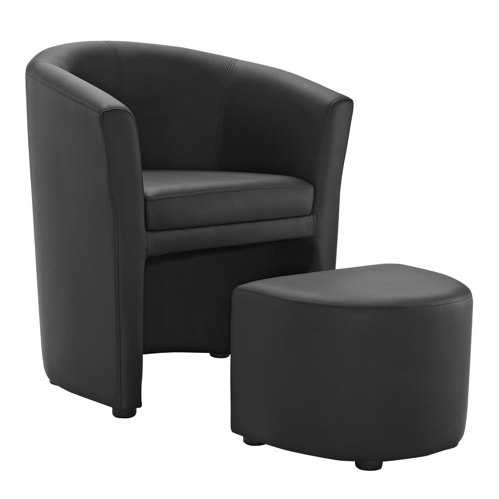 Swell Darvin Barrel Chair And Ottoman Reviews Allmodern Cjindustries Chair Design For Home Cjindustriesco
