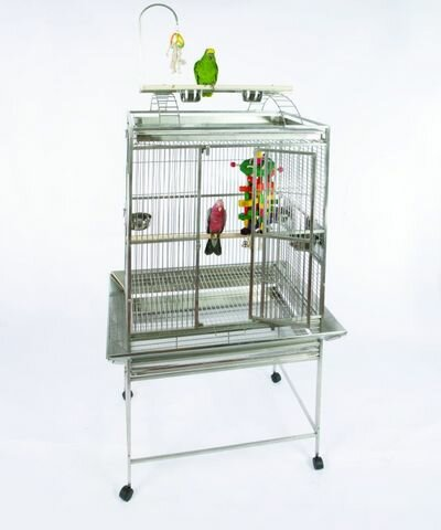 Medium Play Top Bird Cage with Bird Toy Hook by A&E Cage Co.