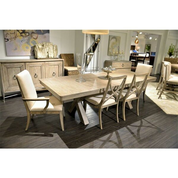 Almazan X-Back Solid Wood Dining Chair (Set of 2) by One Allium Way
