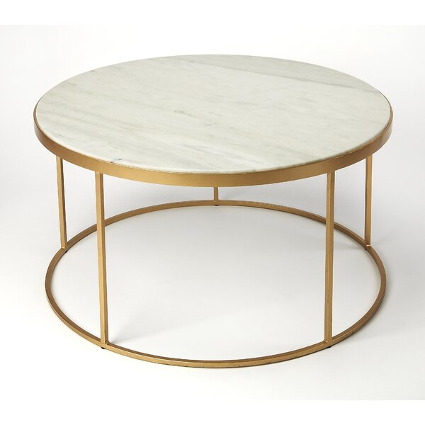 Koehler Marble Coffee Table by Everly Quinn