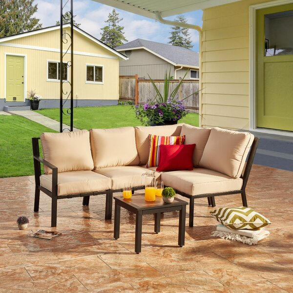 Bysshe 5 Piece Sectional Seating Group with Cushions by Red Barrel Studio