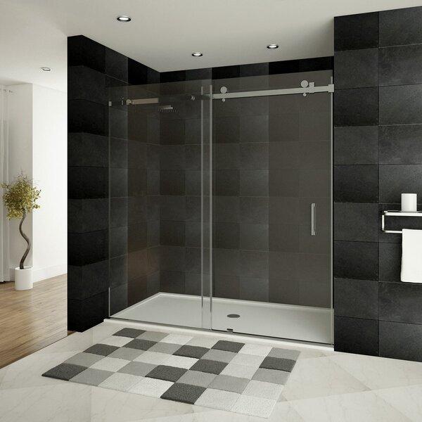 Ultra-B 60'' x 76'' Single Sliding Shower Door by LessCare