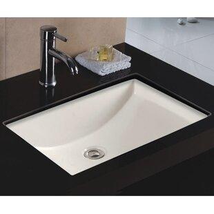 Looking for Rhythm Series Ceramic Rectangular Undermount Bathroom Sink with Overflow ByWells Sinkware