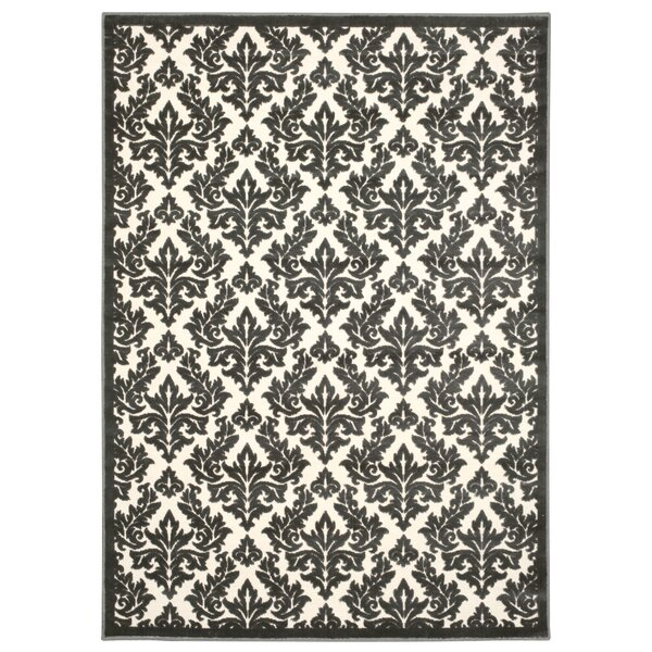 Hartz Ivory/Gray Area Rug by House of Hampton