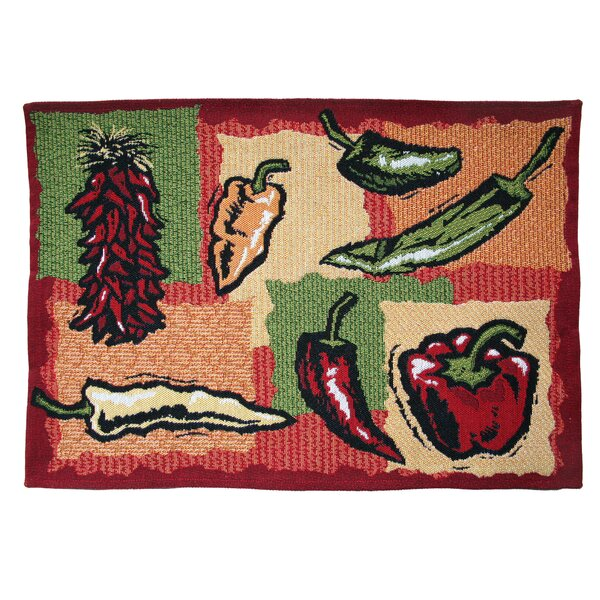Gebhard Hot Peppers Tapestry Placemat (Set of 4) by Winston Porter