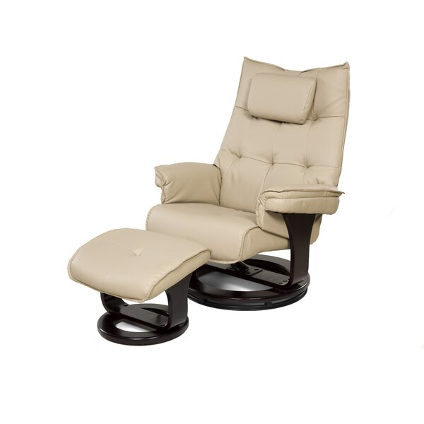Aarti Manual Swivel Recliner with Ottoman by Latit