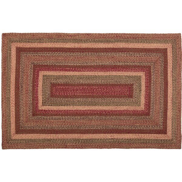 Patrick Primitive Hand-Braided Burgundy/Natural Area Rug by August Grove