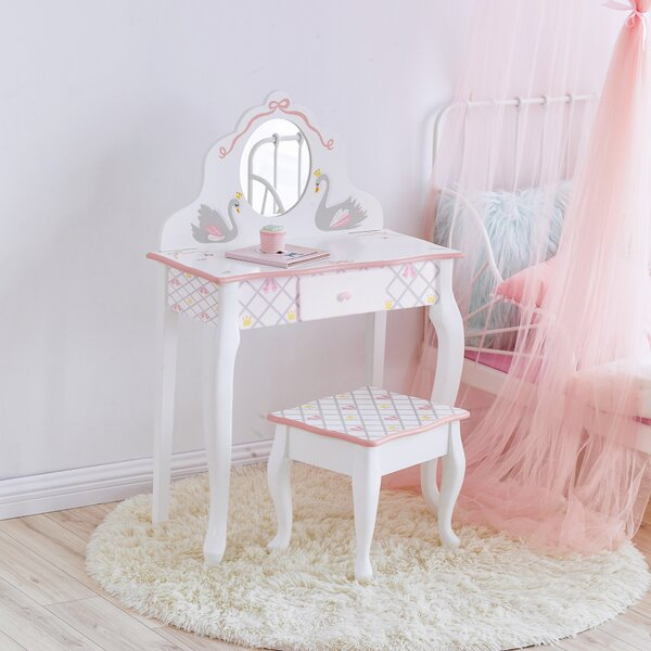 Swan Lake Vanity Set with Mirror by Fantasy Fields