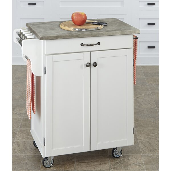 Cuisine Cart Kitchen Cart With Concrete Top By Home Styles Spacial Price