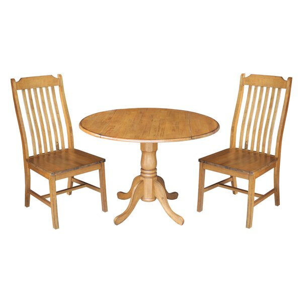 Tippecanoe 3 Piece Dining Set by Loon Peak