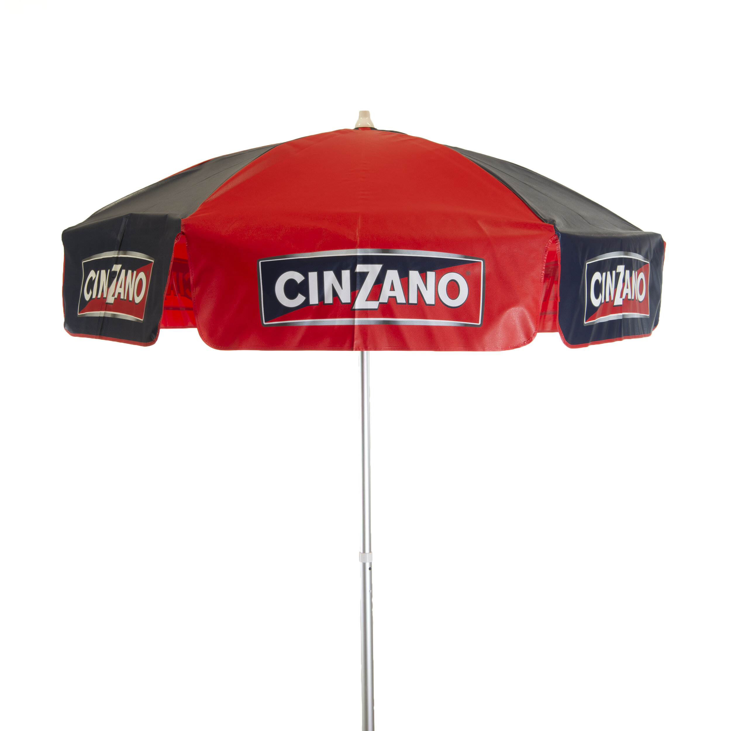 6 ft Campari BEACH Umbrella 3 Position Tilt Vinyl Italian beverage Red White
