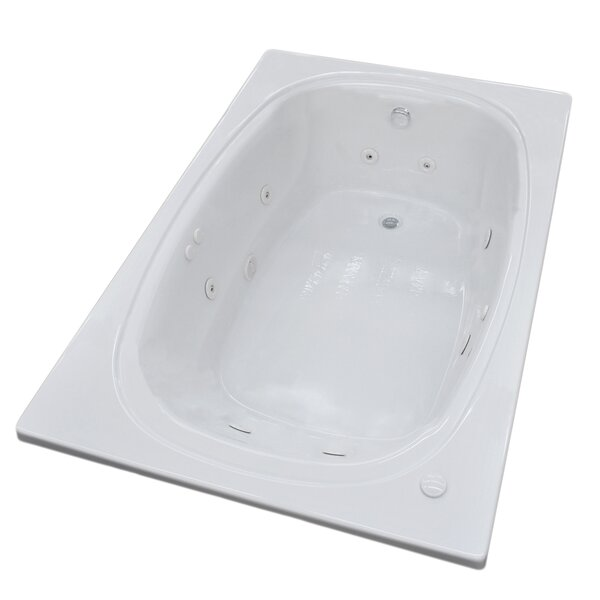 St. Lucia 77.88 x 47.5 Rectangular Whirlpool Jetted Bathtub with Center Drain by Spa Escapes