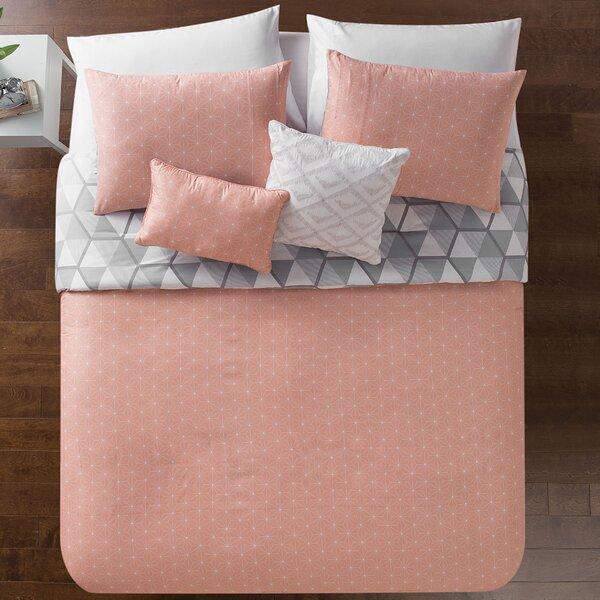 Vercher Reversible Comforter Set by Wrought Studio