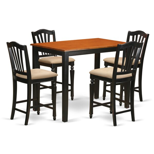 Yarmouth 5 Piece Counter Height Pub Table Set by East West Furniture
