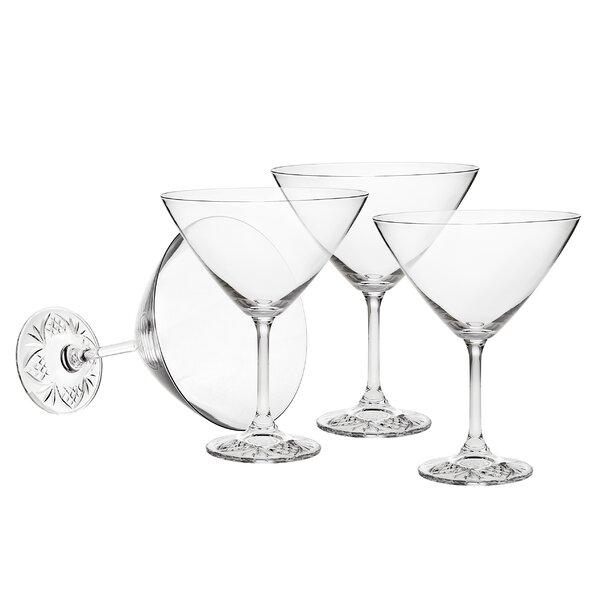 Taste of Dublin Martini 9.5 oz. Crystal Cocktail Glass (Set of 4) by Godinger Silver Art Co