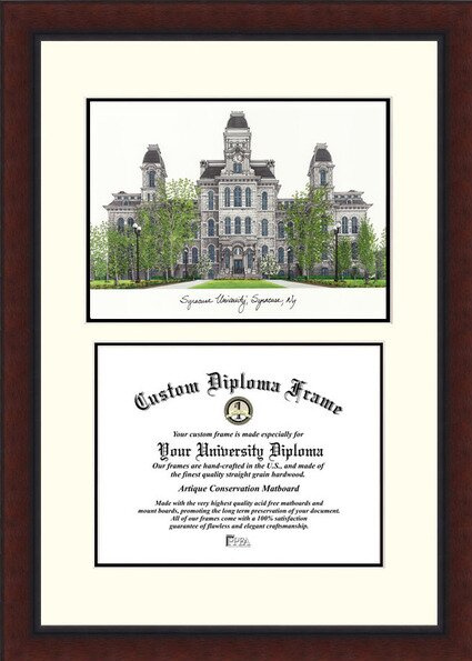 NCAA Syracuse University Legacy Scholar Diploma Picture Frame by Campus Images