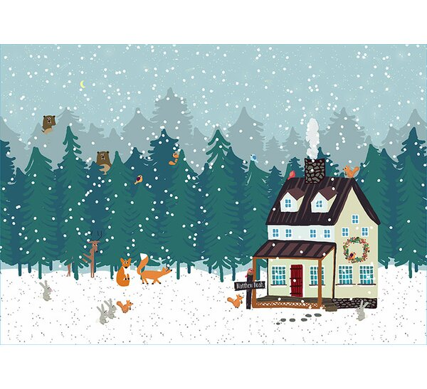 Holiday Hide and Seek Soft Vinyl Placemat by Oopsy Daisy