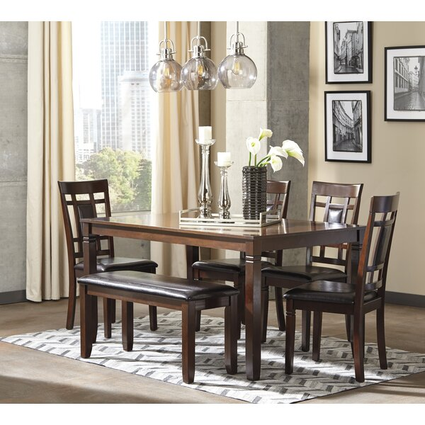 Leger 6 Piece Dining Set by Millwood Pines