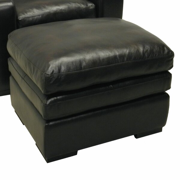 Leather Ottoman by Wildon Home ®