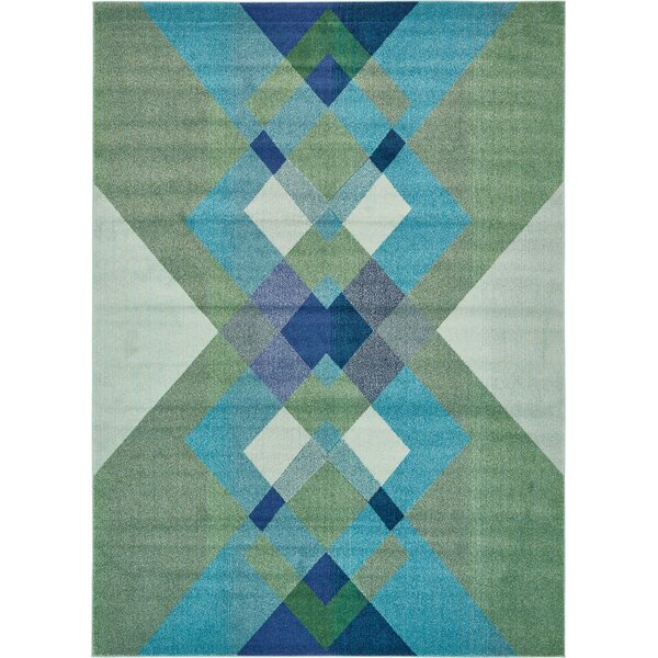 Fujii Green Area Rug by Bungalow Rose