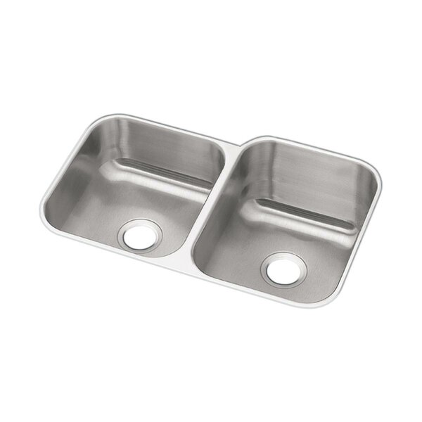 Dayton  32 L x 21 W Double Basin Undermount Kitchen Sink by Elkay