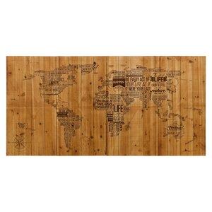 'World Map' Graphic Art by Trent Austin Design