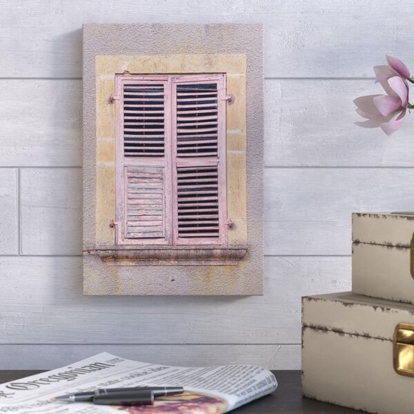 French Shutters II Photographic Print on Wrapped Canvas by August Grove