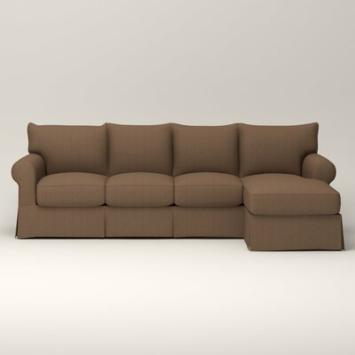Birch Lane Heritage Slipcovered Sleeper Sectional Upholstery Sectionals