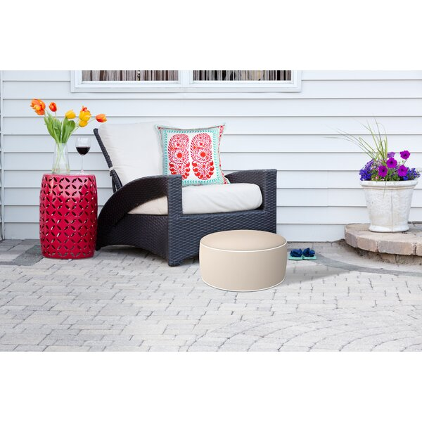 Rosnov Inflatable Outdoor Ottoman with Cushion by Winston Porter