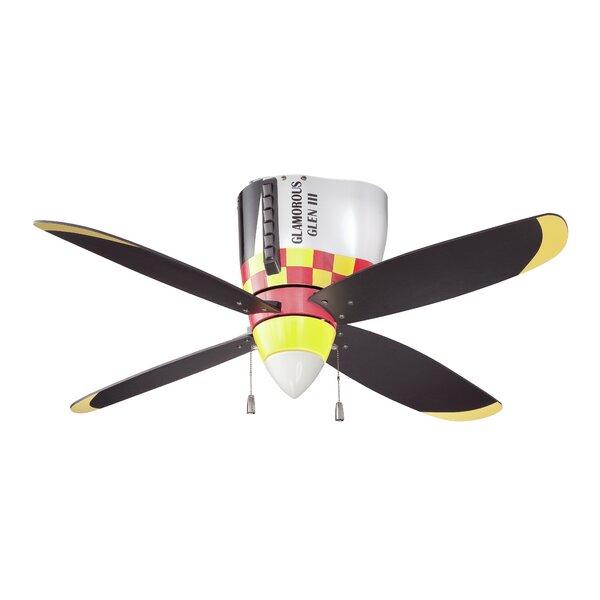 48 Forestport 4-Blade Ceiling Fan by Zoomie Kids