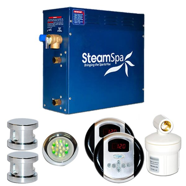 SteamSpa Royal 12 KW QuickStart Steam Bath Generator Package by Steam Spa