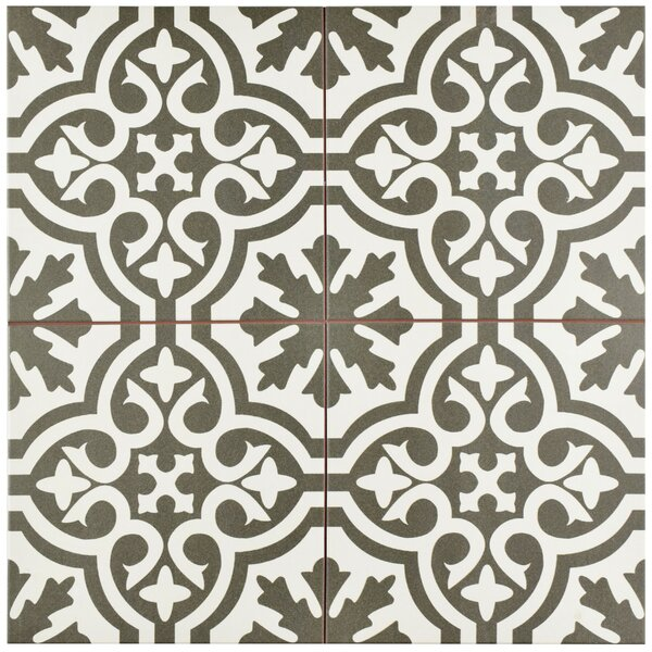 Alameda 17.63 x 17.63 Ceramic Field Tile in Charcoal Grey/Brown/White by EliteTile