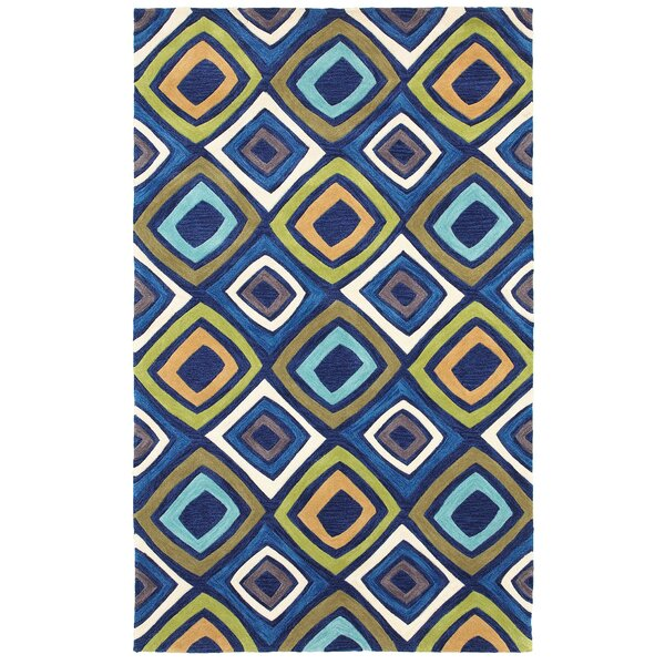 Hand-Tufted Blue/Yellow Area Rug by The Conestoga Trading Co.