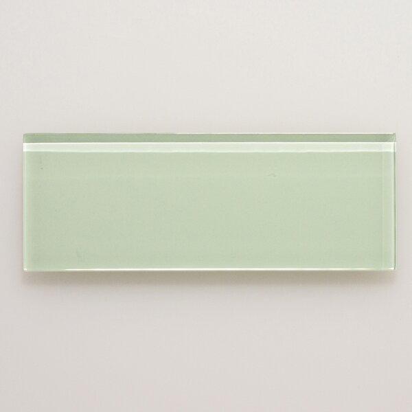 3 x 8 Glass Field Tile in Light Green by Seven Seas
