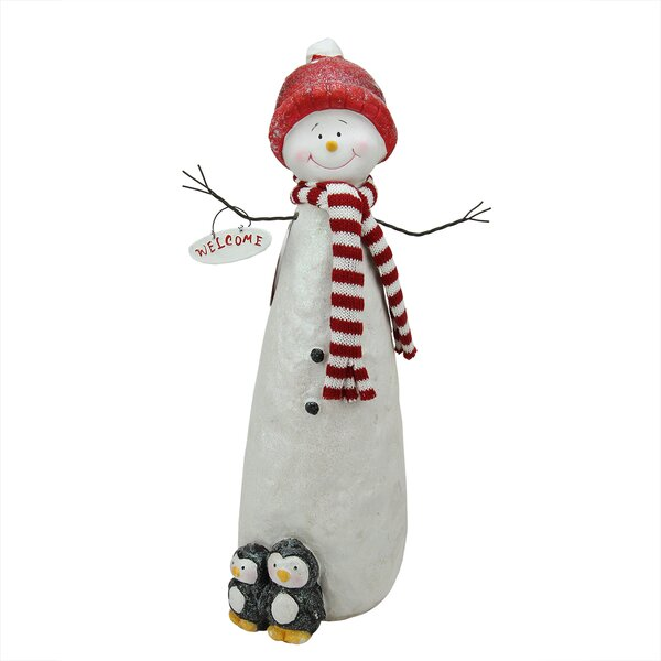 33b708186b6c8 Glitter Snowman With Penquins Christmas Table Top Decoration By Northlight  Seasonal.