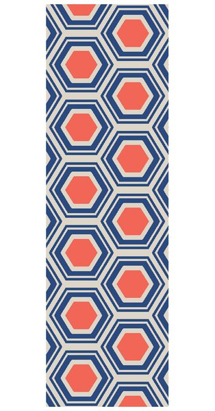 Fallon Royal Hand-Woven Red/Blue Area Rug by Jill Rosenwald Home