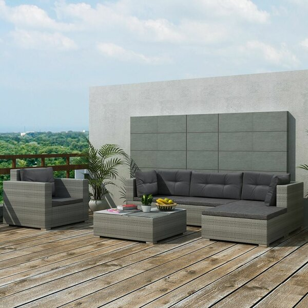 Rosenbaum Garden 6 Piece Rattan Sofa Seating Group with Cushions by Orren Ellis
