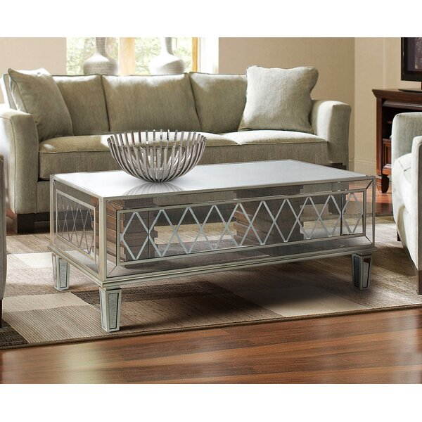 Marble Falls Mirrored Coffee Table by Rosdorf Park Rosdorf Park