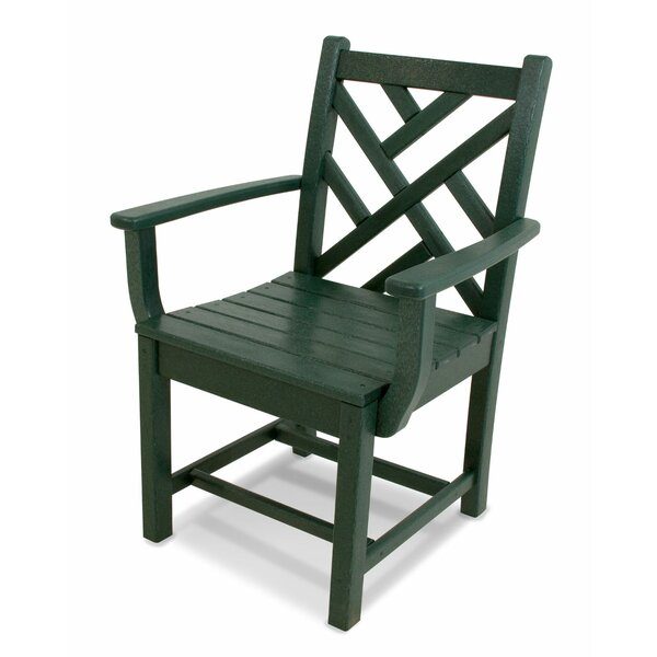 Chippendale Teak Patio Dining Chair by POLYWOOD®