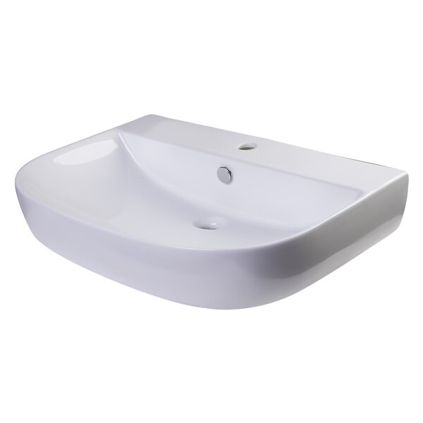 D-Bowl 2 Metal 28 Wall Mount Bathroom Sink with Overflow by Alfi Brand