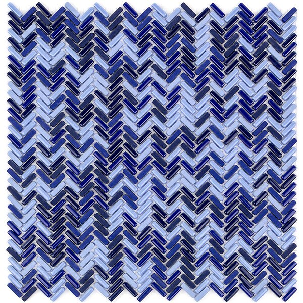 Recoup 12 x 12 Glass Mosaic Tile in Royale by Splashback Tile