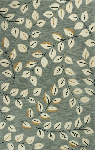 Lager Head Leaves Green Area Rug by Red Barrel Studio