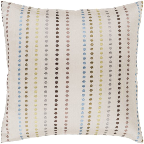 Dots Camel Modern Throw Pillow by Surya