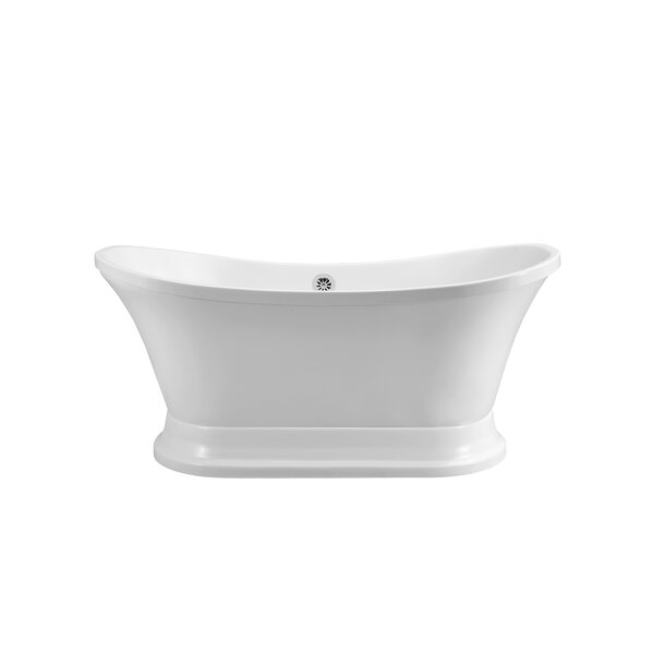 60 x 26.4 Freestanding Soaking Bathtub by Wildon Home ®